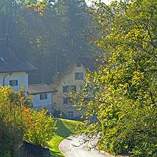 Blick auf die Gemeinde Bäretswil.