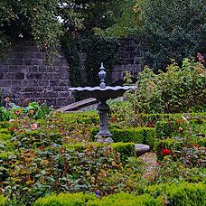 Ein idyllischer Garten in der Gemeinde Egg.