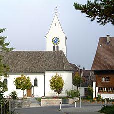 Blick auf die Kirche von Wildberg.